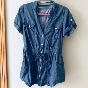 Guess shirt with tie waist